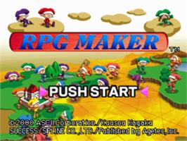 Title screen of RPG Maker on the Sony Playstation.