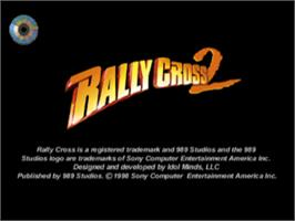 Title screen of Rally Cross 2 on the Sony Playstation.