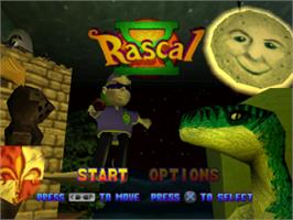 Title screen of Rascal on the Sony Playstation.