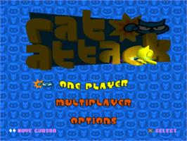 Title screen of Rat Attack on the Sony Playstation.