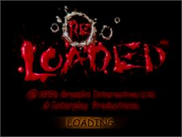 Title screen of Re-Loaded on the Sony Playstation.