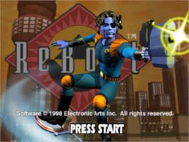 Title screen of ReBoot on the Sony Playstation.