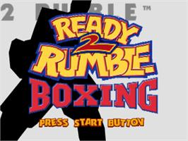 Title screen of Ready 2 Rumble Boxing on the Sony Playstation.