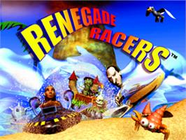 Title screen of Renegade Racers on the Sony Playstation.