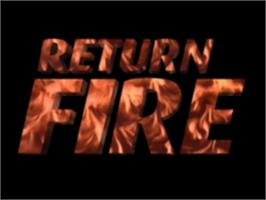 Title screen of Return Fire on the Sony Playstation.