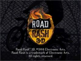 Title screen of Road Rash 3-D on the Sony Playstation.