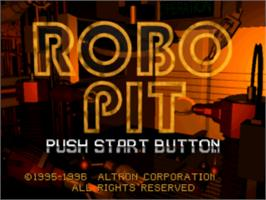 Title screen of Robo Pit on the Sony Playstation.