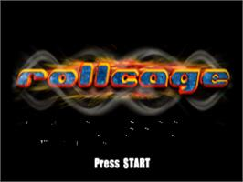 Title screen of Rollcage on the Sony Playstation.