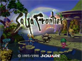 Title screen of Saga Frontier on the Sony Playstation.