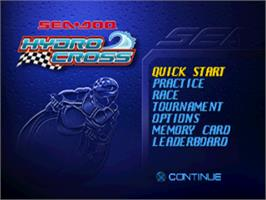 Title screen of Sea-Doo Hydrocross on the Sony Playstation.