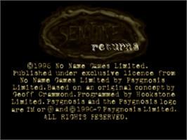 Title screen of Sentinel Returns on the Sony Playstation.