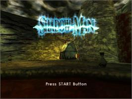Title screen of Shadow Man on the Sony Playstation.