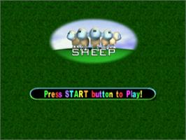 Title screen of Sheep on the Sony Playstation.