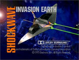 Title screen of Shockwave Assault on the Sony Playstation.