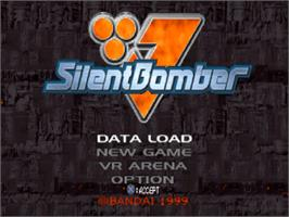 Title screen of Silent Bomber on the Sony Playstation.