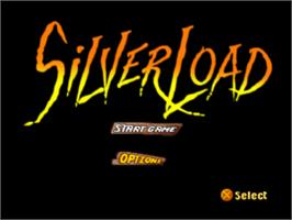 Title screen of Silverload on the Sony Playstation.