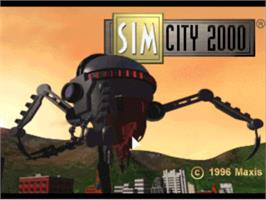 Title screen of SimCity 2000 on the Sony Playstation.