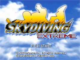 Title screen of Skydiving Extreme on the Sony Playstation.