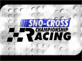 Title screen of Sno-Cross Championship Racing on the Sony Playstation.