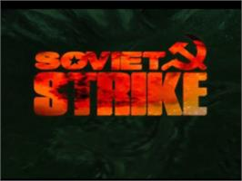 Title screen of Soviet Strike on the Sony Playstation.