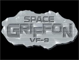 Title screen of Space Griffon VF-9 on the Sony Playstation.