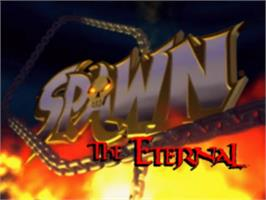 Title screen of Spawn: The Eternal on the Sony Playstation.
