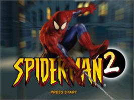 Title screen of Spider-Man 2: Enter Electro on the Sony Playstation.