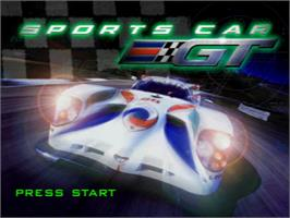 Title screen of Sports Car GT on the Sony Playstation.