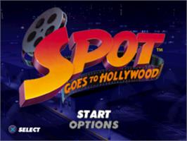 Title screen of Spot Goes to Hollywood on the Sony Playstation.