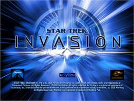 Title screen of Star Trek: Invasion on the Sony Playstation.