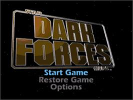 Title screen of Star Wars: Dark Forces on the Sony Playstation.