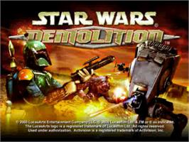 Title screen of Star Wars: Demolition on the Sony Playstation.