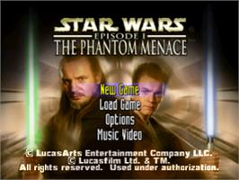 Title screen of Star Wars: Episode I - The Phantom Menace on the Sony Playstation.