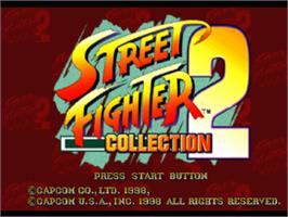 Title screen of Street Fighter Collection 2 on the Sony Playstation.