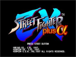 Title screen of Street Fighter EX Plus Alpha on the Sony Playstation.