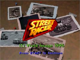 Title screen of Street Racer on the Sony Playstation.