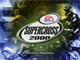 Title screen of Supercross 2000 on the Sony Playstation.