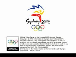 Title screen of Sydney 2000 on the Sony Playstation.
