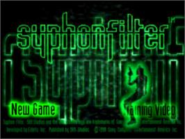 Title screen of Syphon Filter on the Sony Playstation.