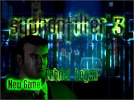 Title screen of Syphon Filter 3 on the Sony Playstation.