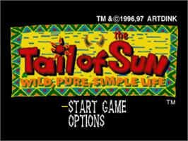 Title screen of Tail of the Sun on the Sony Playstation.