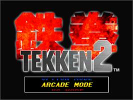 Title screen of Tekken 2 on the Sony Playstation.