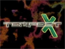 Title screen of Tempest X3 on the Sony Playstation.