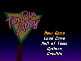 Title screen of Ten Pin Alley on the Sony Playstation.
