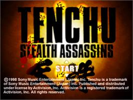 Title screen of Tenchu: Stealth Assassins on the Sony Playstation.