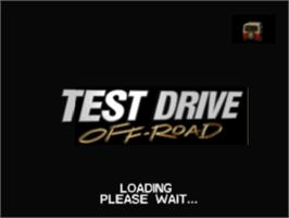 Title screen of Test Drive: Off-Road on the Sony Playstation.