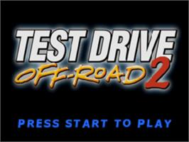 Title screen of Test Drive: Off-Road 2 on the Sony Playstation.