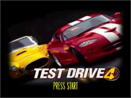 Title screen of Test Drive 4 on the Sony Playstation.