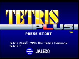 Title screen of Tetris Plus on the Sony Playstation.