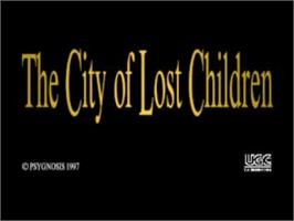 Title screen of The City of Lost Children on the Sony Playstation.